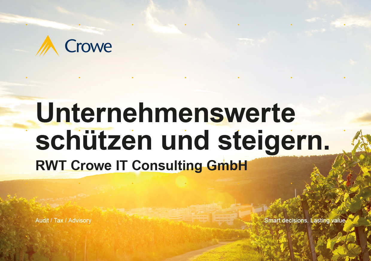 Titel Broschüre RWT Crowe IT Consulting